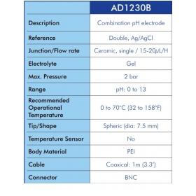 Sonde Testeur PH Adwa (Ad 111/ Ph Continu)