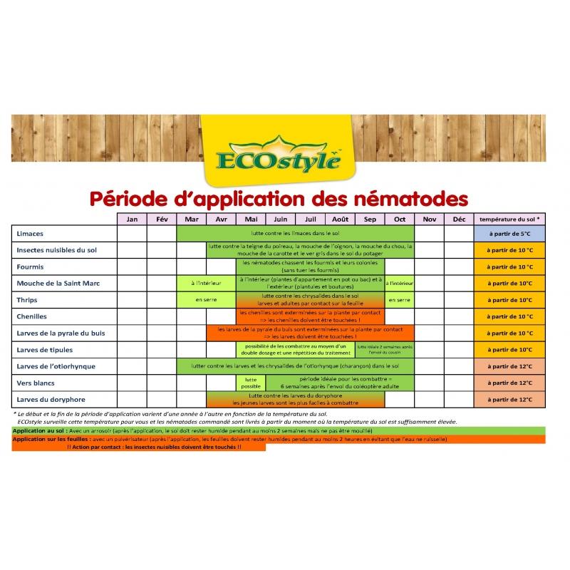 NEMATODES CONTRE LES VERS GRIS (NOCTUELLES, TIPULES) pour 20 M²