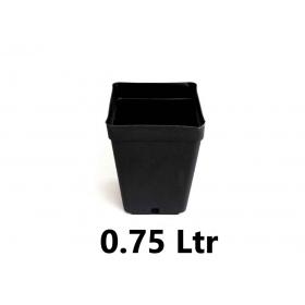 Pot carré 10x10x11cm (0,75ltr)