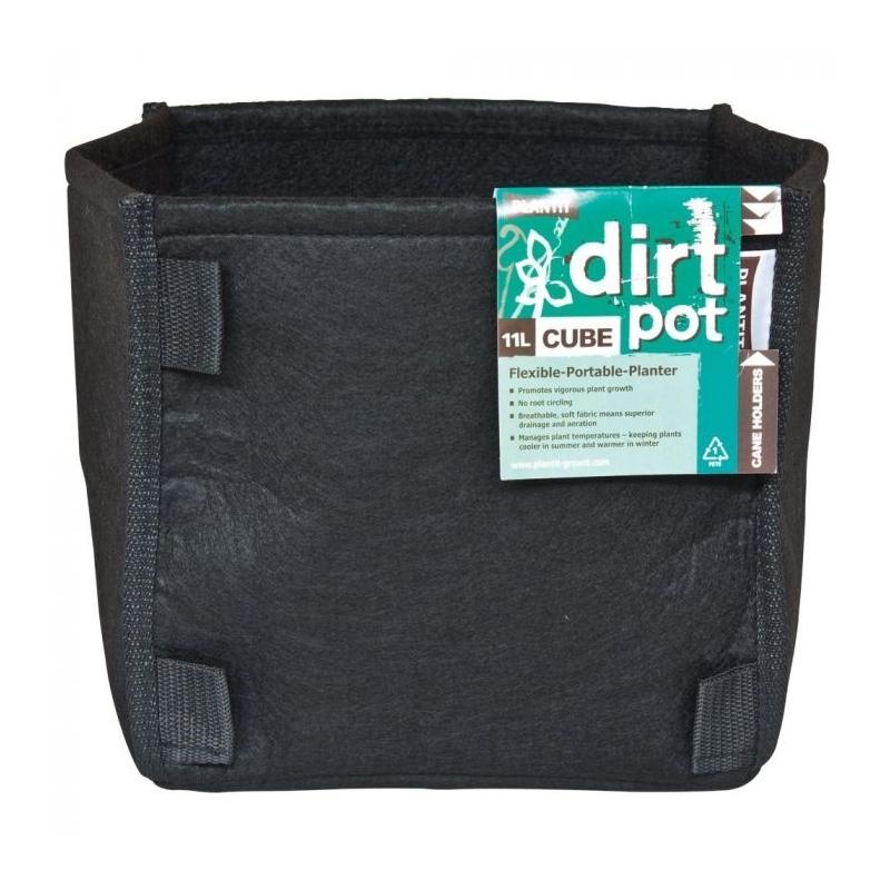 Square Base Dirt Pot 11ltr