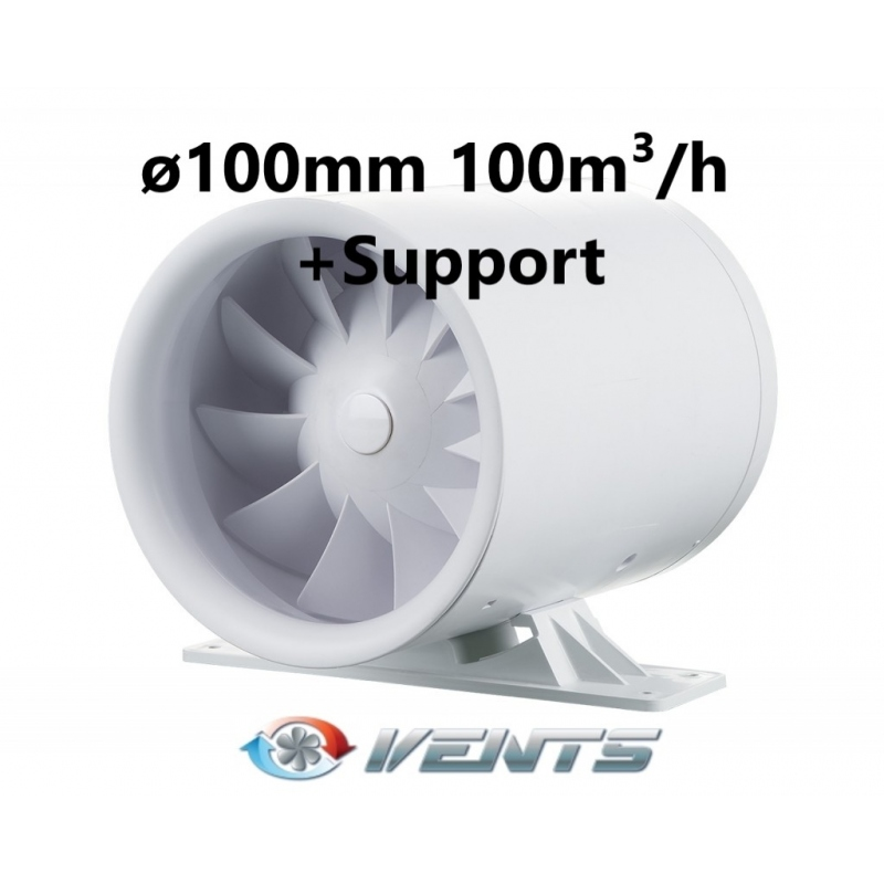 VENTS Quietline 100 K 100m³/h + Support