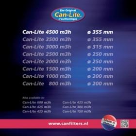 Can-Lite 4500m³/h 355mm ø