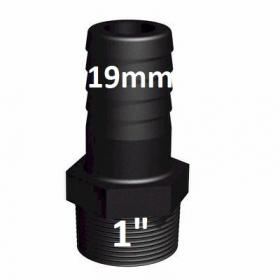 "Raccord vissable male 25 mm vers 3/4"" (PE19mm) tuyau"