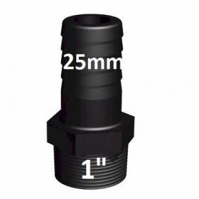 "Raccord vissable male 25 mm vers 1"" (PE25) tuyau"