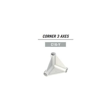 Corner Y 3 Axes ø 16mm