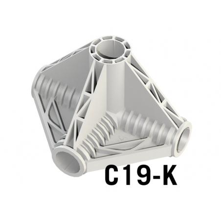 Coin en K 4 Axes ø 19mm