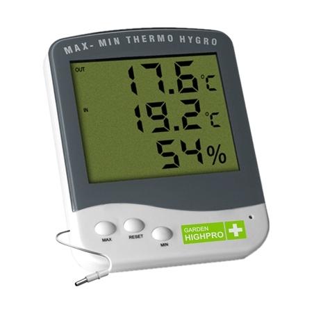 Thermomètre / Hygromètre Max/Min Garden Highpro Premium