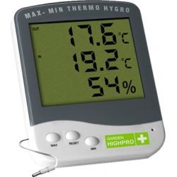 Thermomètre / Hygromètre Max/Min Garden Highpro Prenium