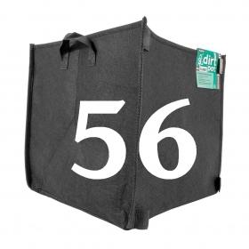 Pot carré en géotextile 56 Lt avec poignées