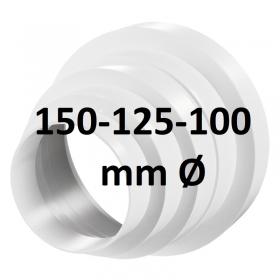 Reducteur Plastique PVC 150-125-100 mm