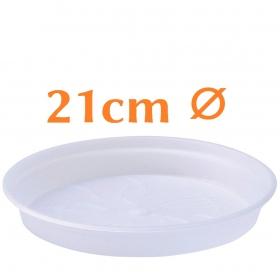 Clear Pot Saucers 21cm ⌀