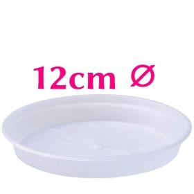 Clear Pot Saucers 12cm ⌀