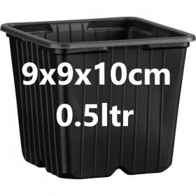 Square Pot Desch 0.5ltr 9x9x10cm (Fisrt price)