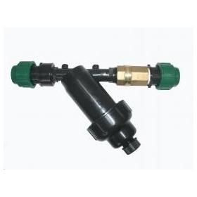 Kit sortie pompe avec filtre, valve, et connecteurs (monté)